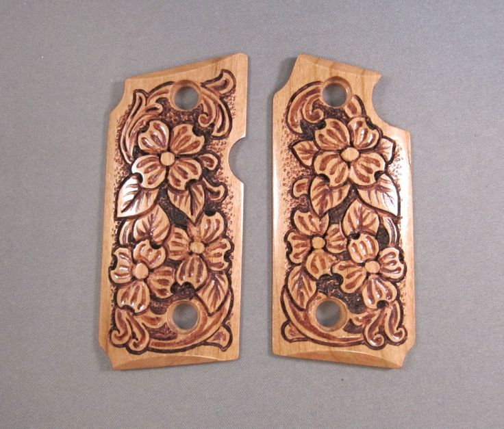 Gun Grips for Sig Sauer P238 with Hand Carved Flower Design #SIGSAUER