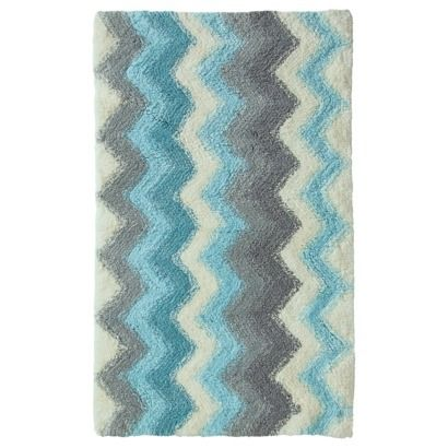 Threshold Watercolor Chevron Bath Rug For The Dream