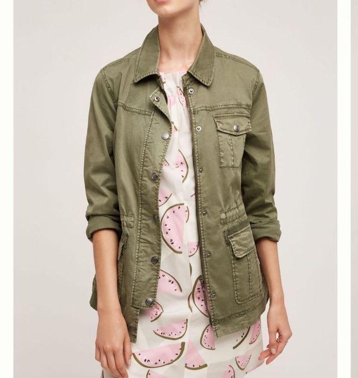 NEW Anthropologie Geneva Anorak Jacket by Marrakech -Moss $148 SP Free Shipping  | eBay