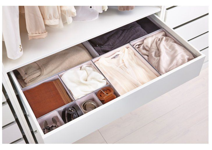 Pin for Later: This Ikea Purchase Is the Answer to All Your Small-Closet Problems I Added 2 Large Drawers in the Middle