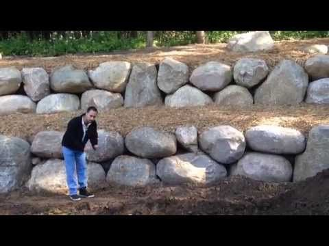 How To Turn A Hill Into A Flat Yard With A Retaining Wall