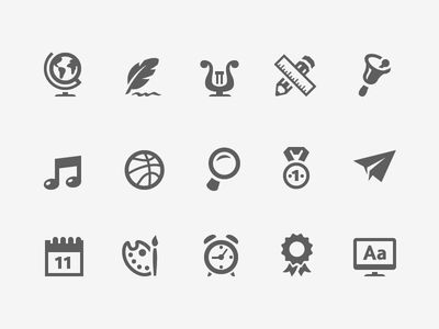 Education Icons 2