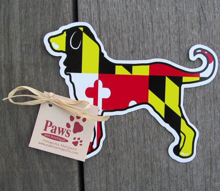 Maryland Flag Dog Stickers at PawsPetBoutique.com | Maryland Pride Products