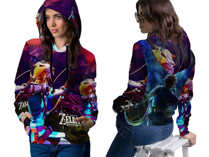 THE LEGEND OF ZELDA Womens TOP PullOver Hoodie Disney Video Game Custom Fullprint Sublimation sizes: S to 3XL (XXX-Large, Art 4)