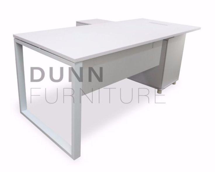 Adorn Executive Desk Left Return White U2013 Dunn Furniture