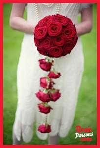 unique wedding bouquet - red roses