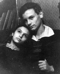 Andrei Tarkovsky and his sister, Marina