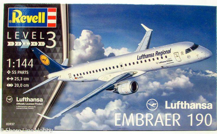 Revell Lufthansa Embraer 190 1/144 03937 Plastic Model Airplane Kit