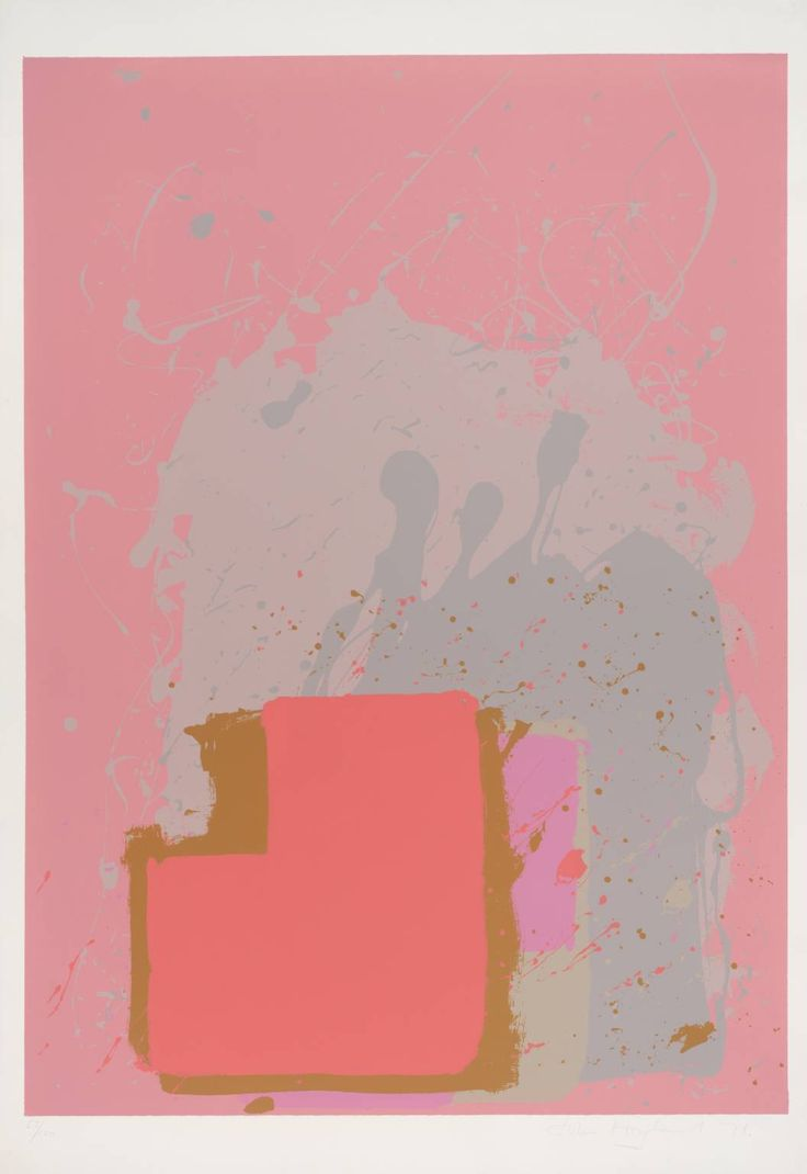 John Hoyland 'Red Black on Pink', 1971 © The estate of John Hoyland