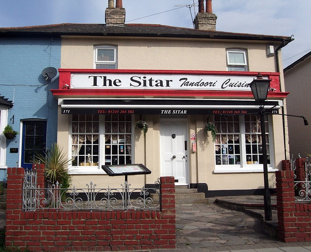 Chelmsford, The Sitar Restaurant       171 Springfield Rd, Chelmsford      01245 266 582      Web: http://www.thesitarchelmsford.co.uk/      Read more: http://www.essexportal.co.uk/business/curry-houses-and-restaurants-in-chelmsford#ixzz2EZcE1Zo9  Sunday Buffet £ 7.95