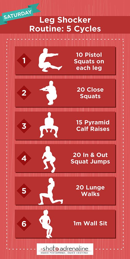 calisthenics workout plan saturday