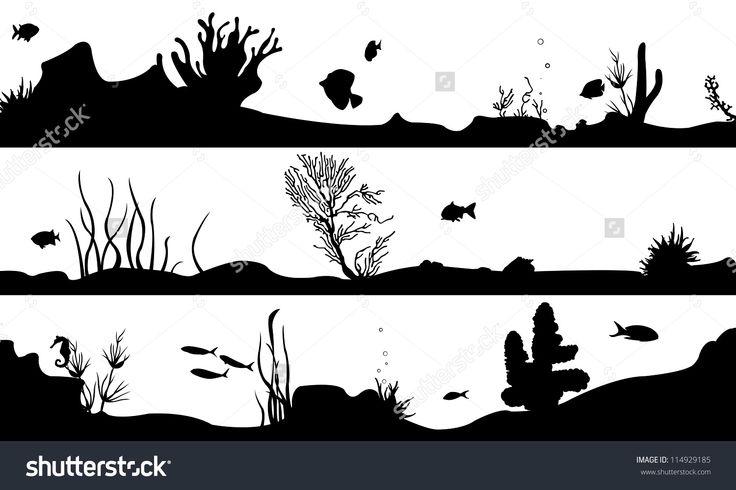 Marine Landscape Set Isolated On White Stock Vector Illustration 114929185 : Shutterstock
