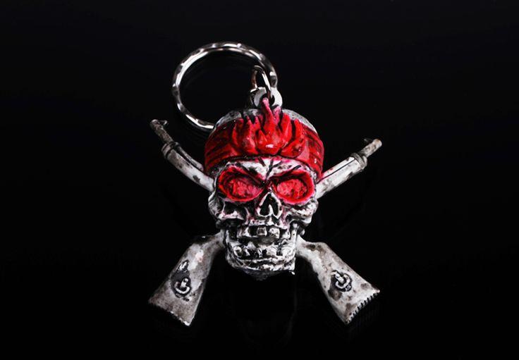 New Arrival  Unique   Pirate Red Eyes Skeleton Keychain  Vintage  Fashion lastest   Key  Chain