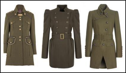 2010 Fashion Khaki Style Military Army Coats
