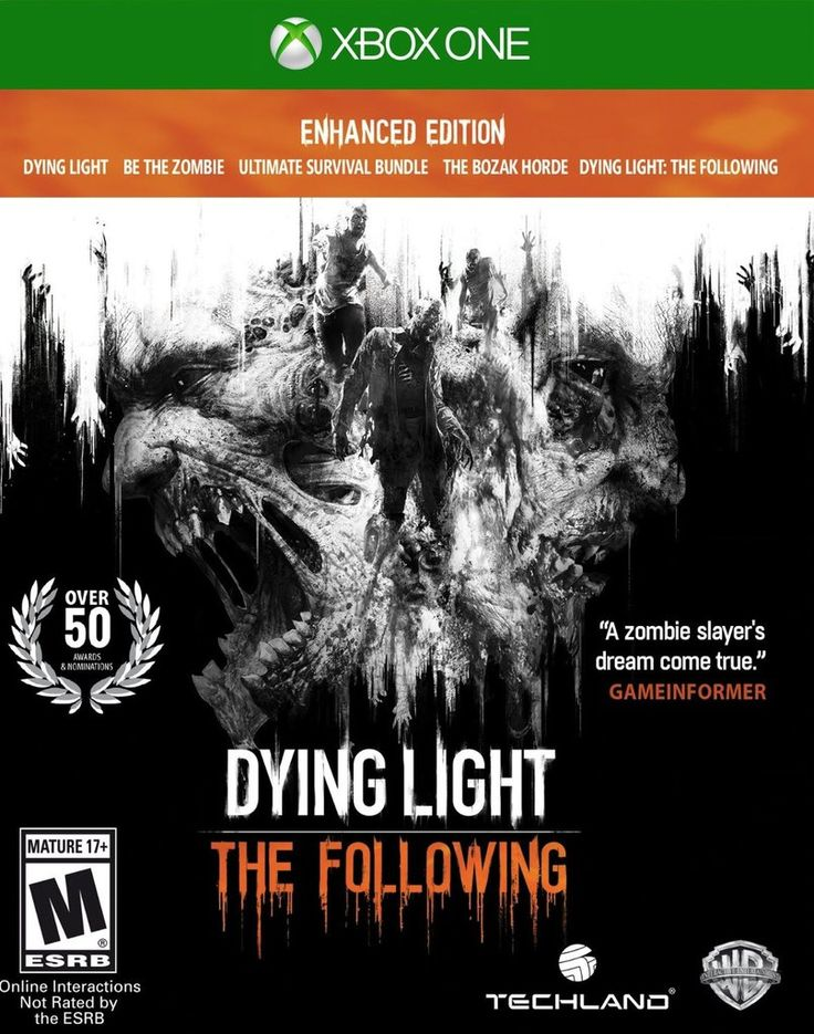 Dying Light: The Following - Enhanced Edition For Xbox One (Physical Disc) for only $57.95 https://www.gamecheap.com/products/dying-light-the-following-enhanced-edition-xbox-one-physical-game-disc-us?utm_content=buffer2891d&utm_medium=social&utm_source=pinterest.com&utm_campaign=buffer via Game Cheap