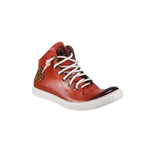 Pánske kožené športové topánky červené - fashionday.eu