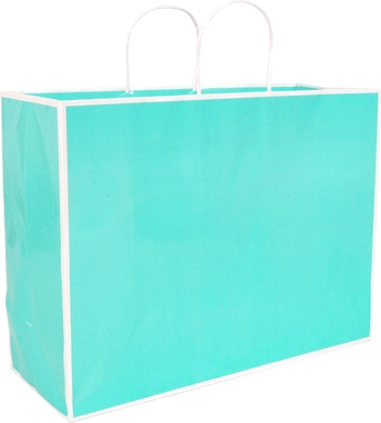 San Francisco Shopper - Large  16 x 6 x 12in Blue 100% Recycled material -build your brand while saving the planet!