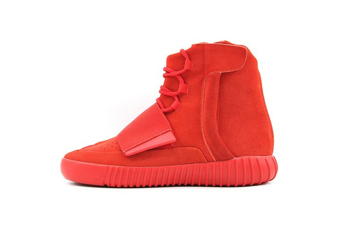Adidas Kanye West x Yeezy 750 Boost all red sneakers