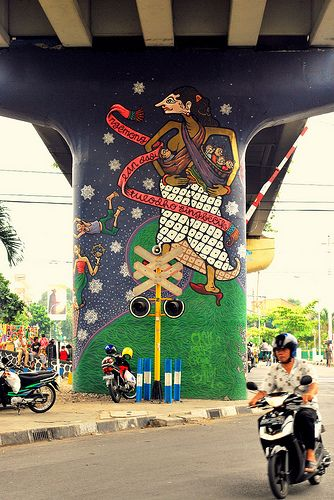 Mural at indonesia
