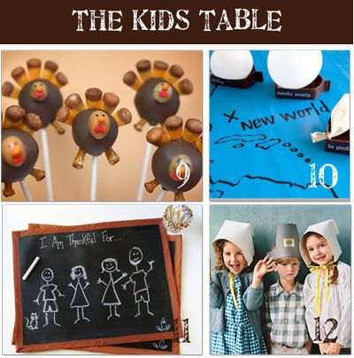 20 ideas for the kid's table~compiled from Tip Junkie