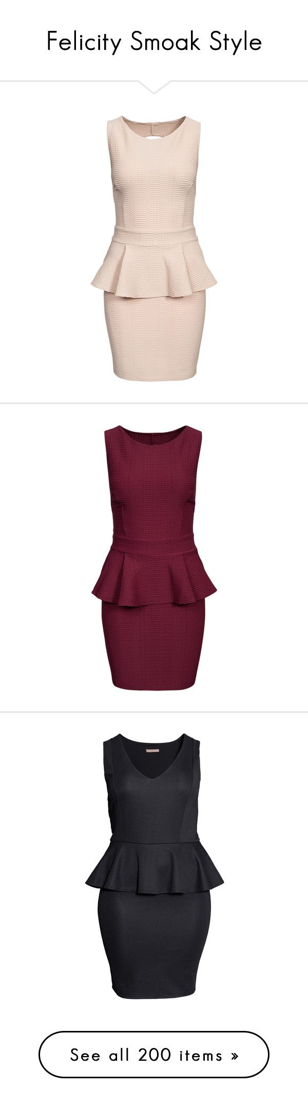 """""""Felicity Smoak Style"""" by sashlib ❤ liked on Polyvore featuring dresses, beige, party dresses, womens-fashion, pink frilly dress, peplum cocktail dress, bodycon dress, peplum dress, bodycon cocktail dress and burgundy"""