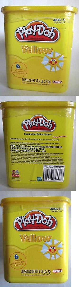 Play-Doh Modeling Clay 11740: Play-Doh Modeling Compound 6Lb Bulk Container Yellow Playskool Hasbro **New** -> BUY IT NOW ONLY: $69.99 on eBay!