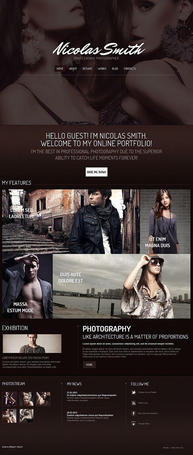#Photographer Portfolio #MotoCMS #HTML5 #ZendOptimizer Template #47653