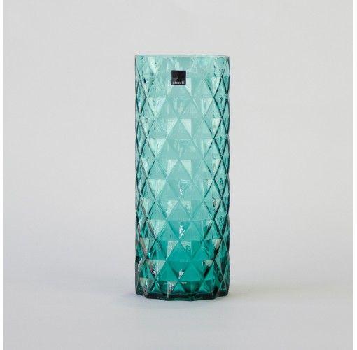 Diamond Vase in turquoise 30cm
