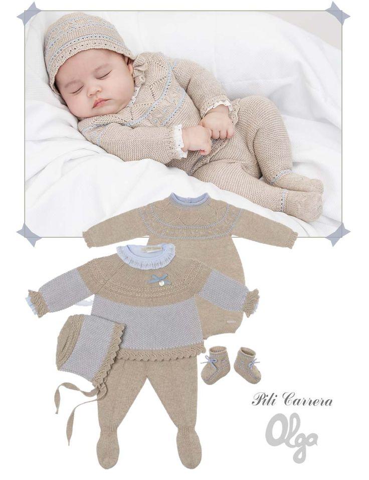 Colección Pili Carrera para bebés. Moda infantil clásica, dulce y muy cómoda.