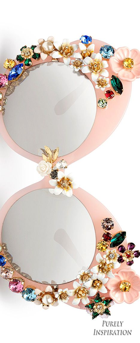 Dolce  Gabbana SS2016 Capsule Sunglass Collection (Pink Flowers) | Purely Inspiration More