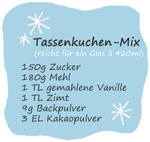 Tassenkuchen-Mix  a. 420 ml  Elly's Art: Geschenke aus der Küche
