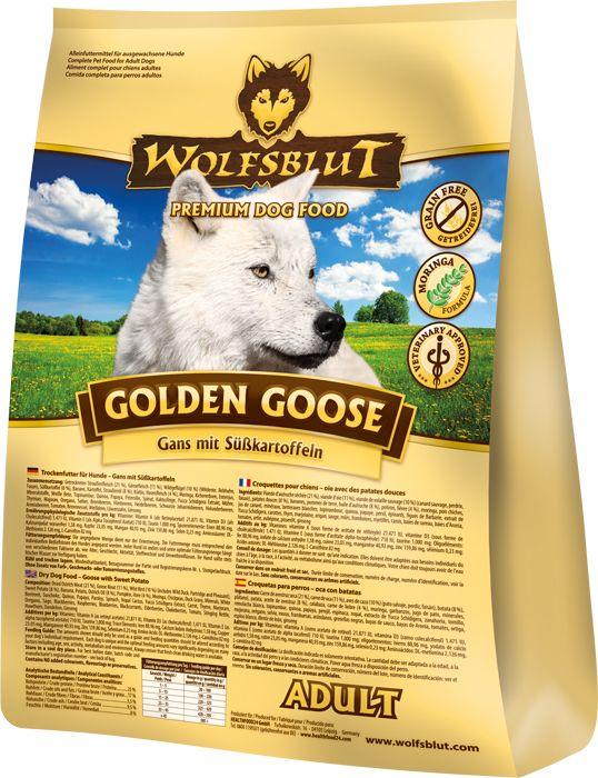 Jetzt direkt zugreifen: Getreidefreies Hundefutter mit Gans, Süßkartoffeln und Moringa - Wolfsblut Golden Goose. #healthfood24 #wolfsblut