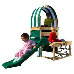 Plum Steenbuck Wooden Climbing Frame Outdoor Play Centre with Slide and Play Den