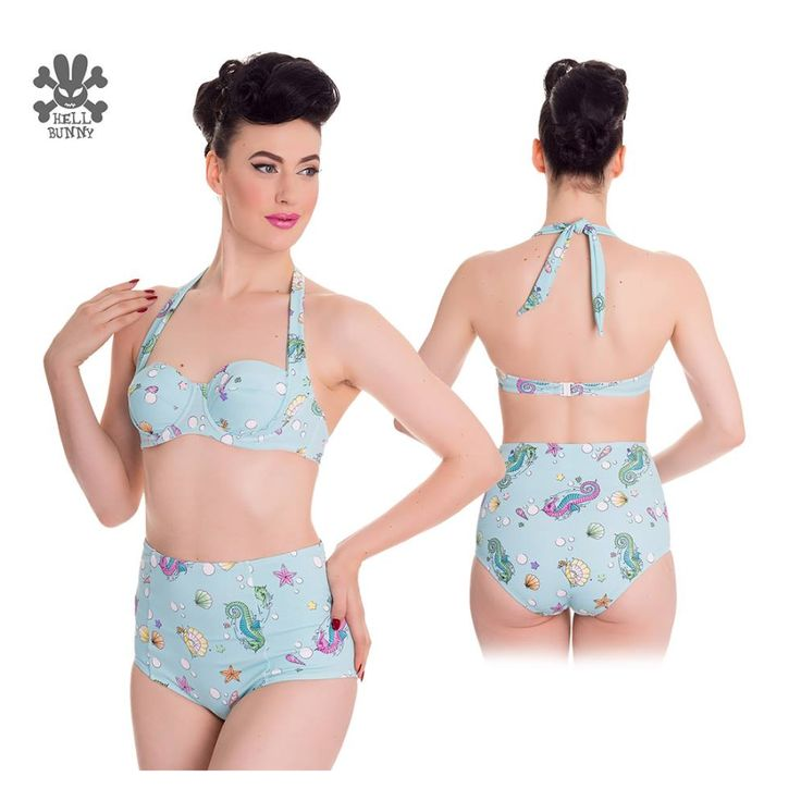Foksi | Hell Bunny Bubble & Sweet 50s style bikini top - Foksi