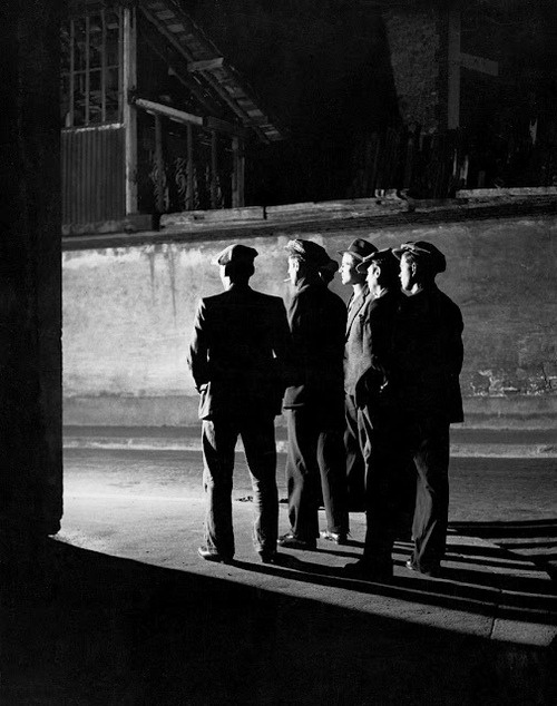 "BRASSAÏ :: Big Alberts Gang, Place d'Italie, 1931 [from ""Paris After Dark"" (Paris de Nuit)]"