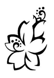 hawaiian tribal flower tattoos for women - Google Search