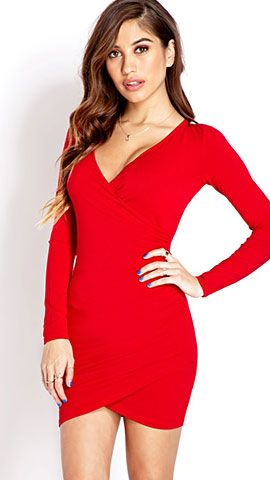 Click Pic for 23 Cute Valentines Day Outfits   Posh Surplice Dress   Valentines Day Dresses