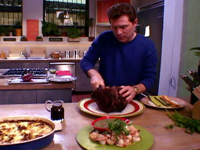 Roast Prime Rib with Thyme au Jus Recipe : Bobby Flay : Food Network-I've made this recipe and it was easy & foolproof!