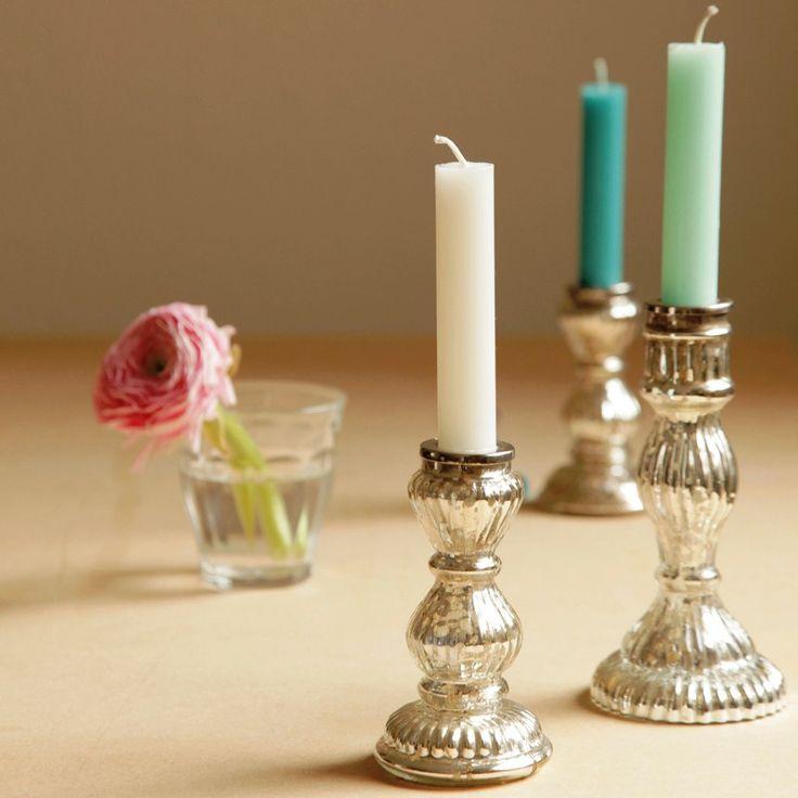 silberne Kerzenständer