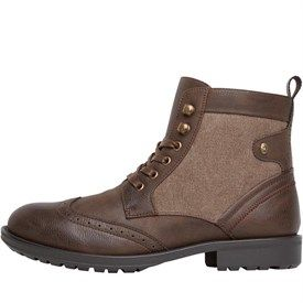 Firetrap Mens Tempo Worker Boots Brown