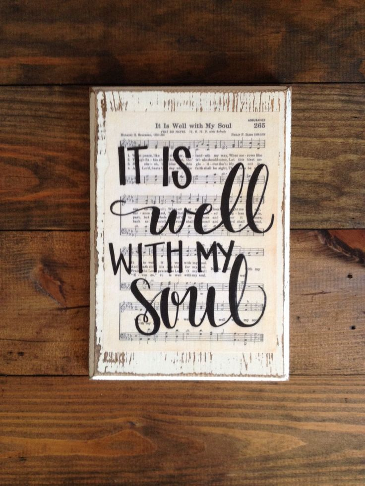 It Is Well With My Soul Hymn Board Hand Lettered Wood