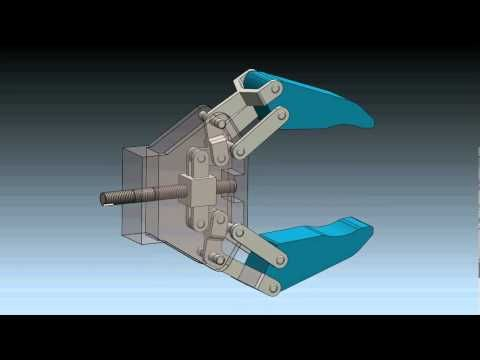 Robot Gripper Mechanism in SolidWorks 2012 - YouTube