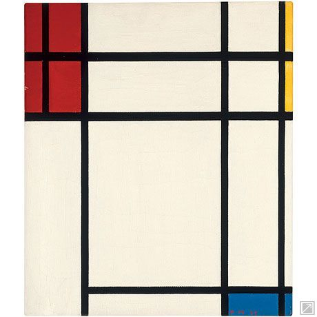 Composition of Red, Blue, Yellow, and White: Nom II