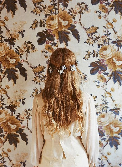 band of flowers in my hair