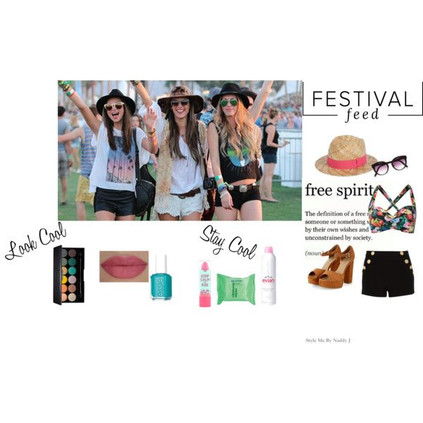 Festival Style by stylemebynaddyj on Polyvore featuring Boutique Moschino, Seafolly, Paul Smith, River Island, She's So, Evian, Essie and Rimmel