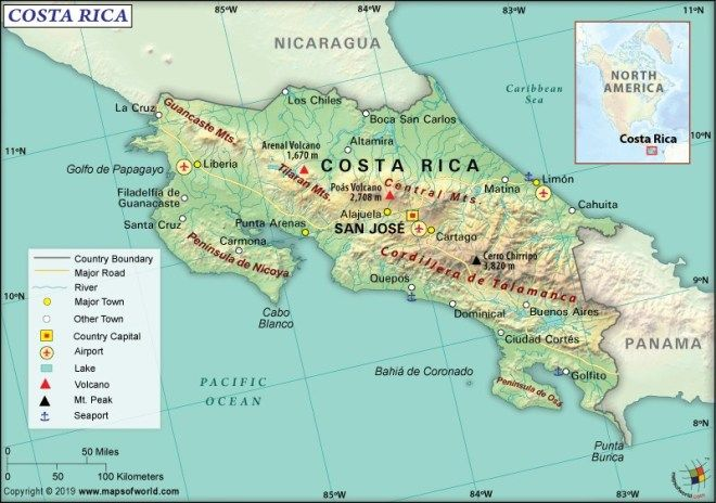 What are the Key Facts of Costa Rica? | Costa rica, Central ...