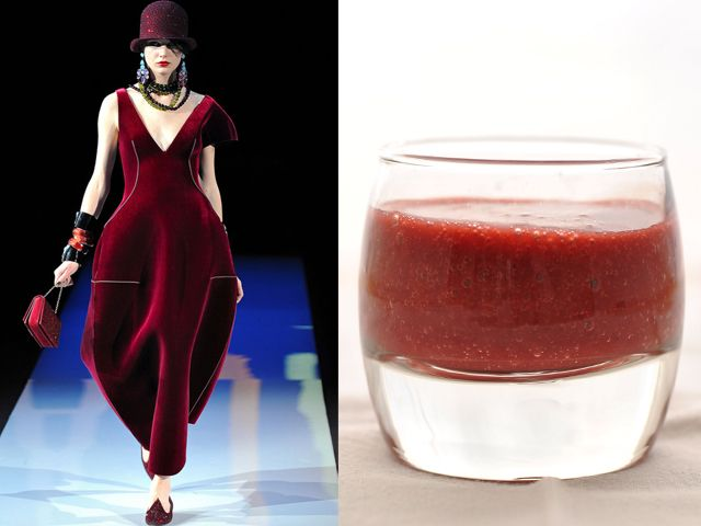 Giorgio Armani fw 2013-14 / Smoothie with red fruits and hazelnuts