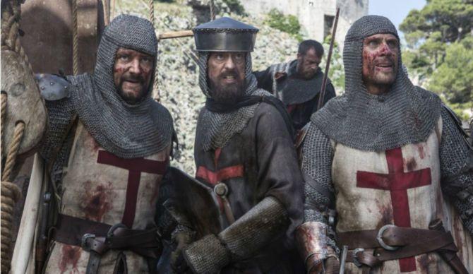 A & E Network's 'Knightfall,' Knights Templar, Simon Merrells and Pádraic Delaney