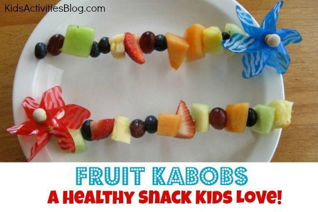 kids fruit kabobs recipe | Fruit Kabobs from Kids Activities Blog