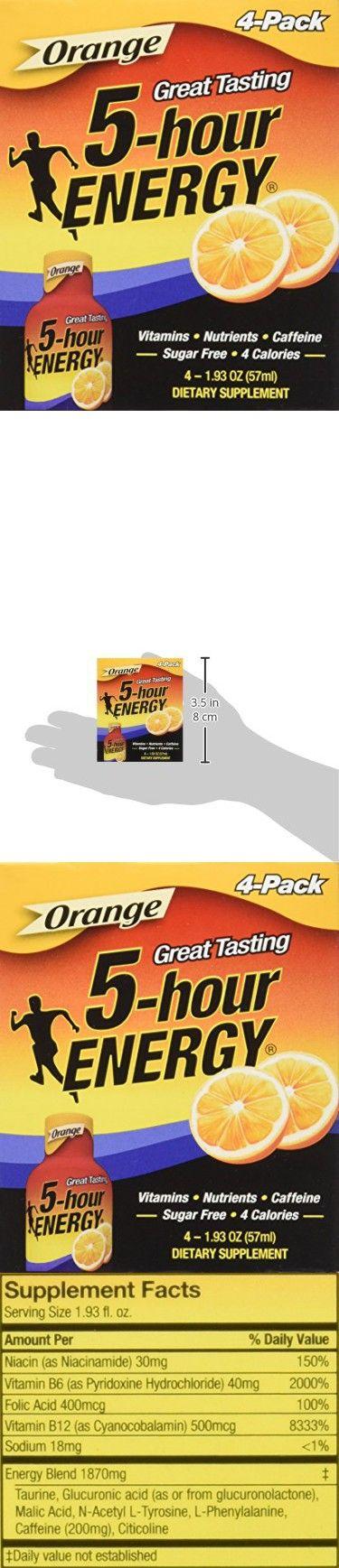 5 Hour Energy Shot, Orange, 2 Ounce, 4 Count
